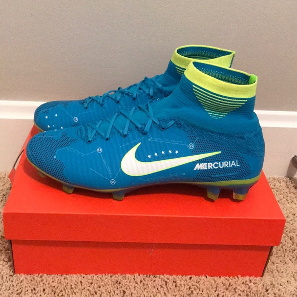 wholesale online on feet images of meet Nike Mercurial Neymar FG V Blue orbit size 11